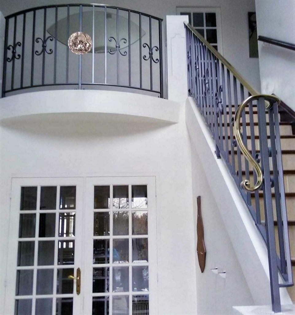 Garde-corps et Rampe d'escalier en laiton